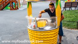 Most popular outdoor food mobile sweet corn kiosk design for sale