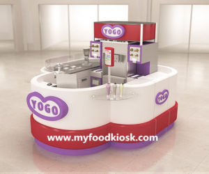 Attractive high end customized ice cream kiosk design