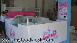 Most popular bubble tea kiosk design for sale