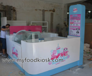 Most popular bubble tea kiosk design for sale