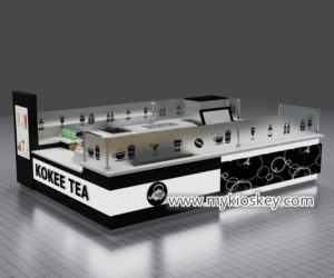 Modern customized  3d bubble tea kiosk design for mall