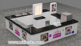 Popular mall food fried ice cream kiosk design for sale