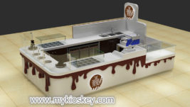 Hot sale coffee chocolate display kiosk for shopping center
