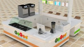 High quality white ice cream kiosk with 3d HD design images