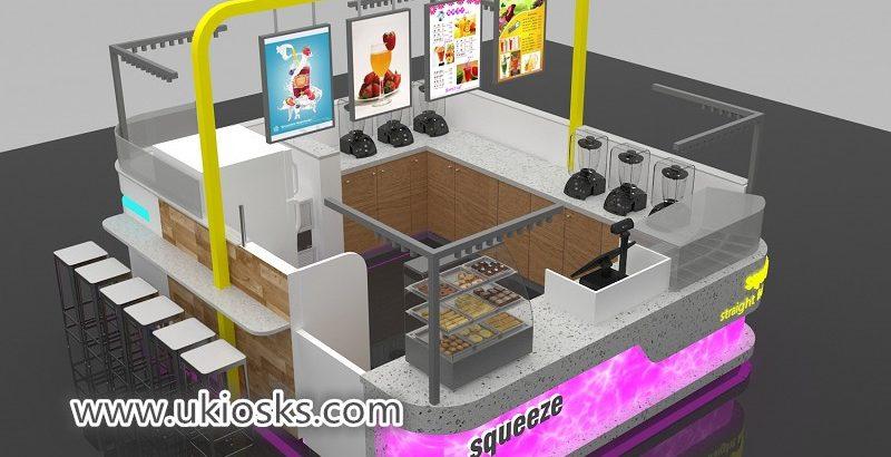 High quality attractive mall food juice bar kiosk for USA
