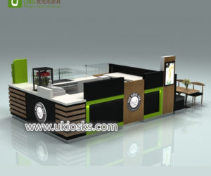 Retail mall food bakery display kiosk for donut service