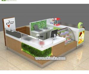 100+high quality mall food frozen yogurt kiosk for sale