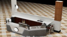 High quality retail mall crepe kiosk design for sale