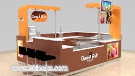 Popular retail food chocolate fruit display kiosk