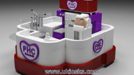 3m by 3m mall food fried ice cream roll kiosk export UK