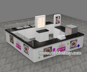 Australia popular mall food gelato ice cream roll kiosk design