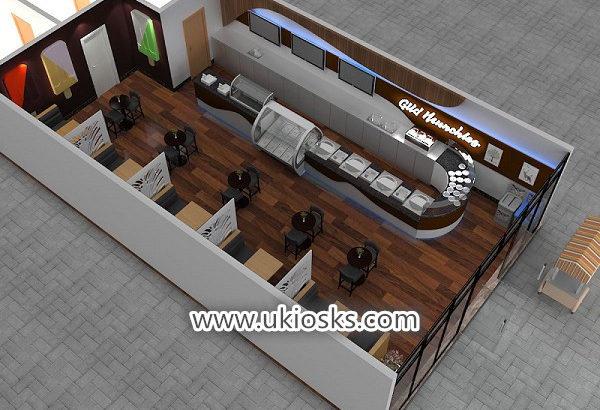 Most popular mall food ice cream shop furniture decoration design