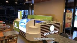 America popular mall food fresh juice bar kiosk for sale