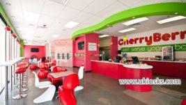 Mall food Self -serve yogurt bar with yogurt shop furniture design