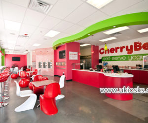 Mall food Self -serve yogurt bar with yogurt shop furniture design