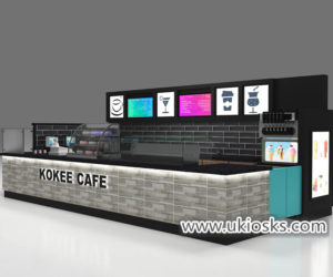 Most popular 20X10ft KOKEE TEA brand bubble tea kiosk export USA
