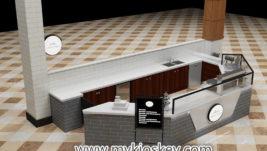 Best quality retail mall food crepe kiosk &  waffle kiosk design for sale