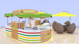 Most poppular mall food juice bar with crepe kiosk shop counter design