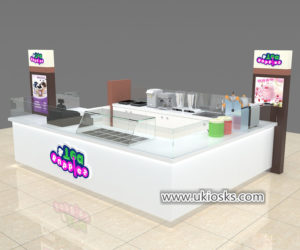 Fresh fruit juice bar kiosk for mall food store used