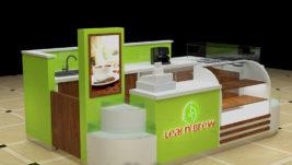 Most popular Fresh fruit juice bar & milkshakes kiosk design export USA