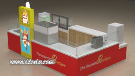 Popular Churros &snack fast food kiosk design for shopping mall