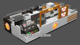 Hot sale commerical coffee & fried ice cream kiosk for shopping mall