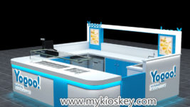 Modern frozen yogurt kiosk with high quality for sale