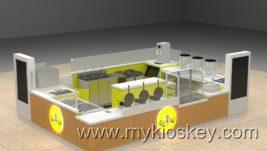 America GGP mall bubble on waffle & juice bar kiosk design