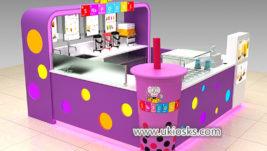 Lovely Mr bubble tea kiosk with colorful led light decoration
