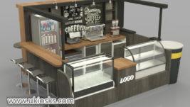 eye-catching wooden coffee kiosk export to Saudi Arabia
