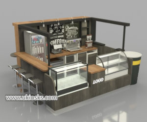 eye-catching wooden coffee kiosk export to Saudi Arabia