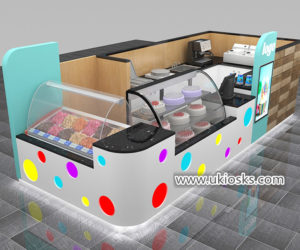 Popular Fresh juice bar counter & soft ice cream kiosk for shopping mall