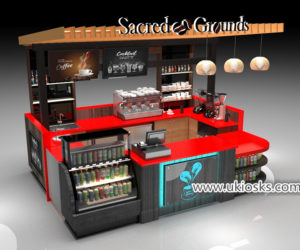 High-end commercial Espresso coffee kiosk for shopping mall