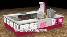 Summer ice cream roll kiosk design with drink service design