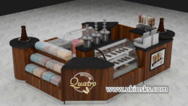 Wooden multifunction mall food chocolate kiosk design