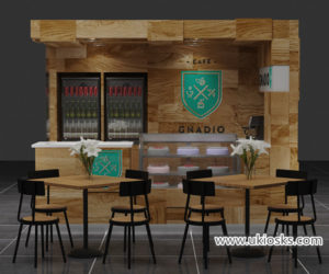 Saudi Arabia popular Espresso coffee kiosk for shopping mall