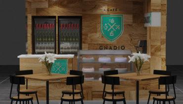 Saudi Arabia popular Espresso coffee kiosk for shopping mall