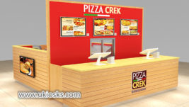 Most popular fast food snack pizza kiosk for shopping mall