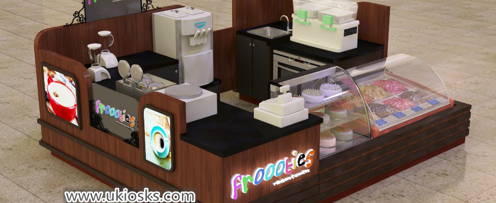 high end Most popular frozen yogurt kiosk with soft ice cream service