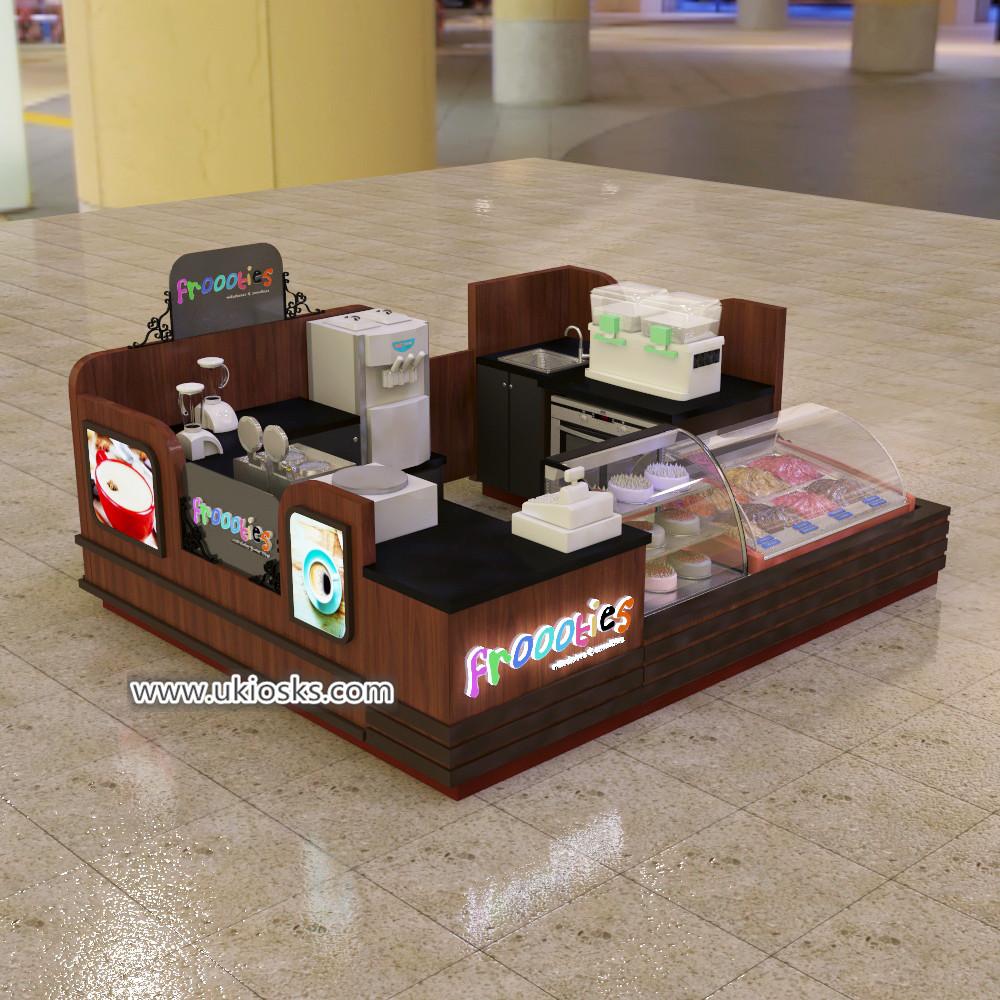 ice cream kiosk & mall juice bar kiosk export to Mozambique