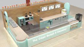 Best selling retail food crepe kiosk design for sale