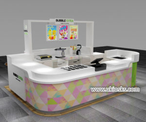 high quality exquisite mall fresh juice bar kiosk with coffee counter design