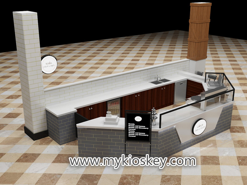 Crepe kiosk design with fast food kiosk counter export New Zealand