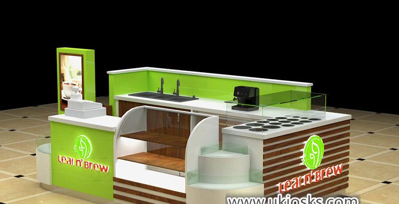 Popular fresh juice bar kiosk design export toUnited stated