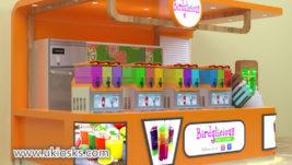 Juice bar kiosk & high end beverages display counter export to Sri Lanka