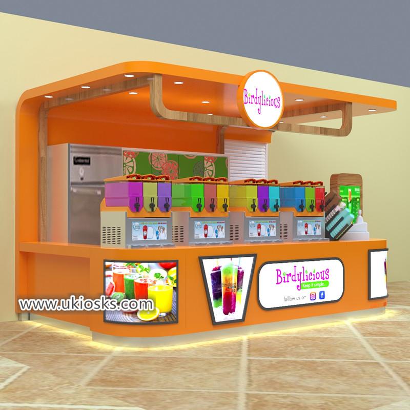 high quality fresh juice bar kiosk design for shoppping mall - Mall