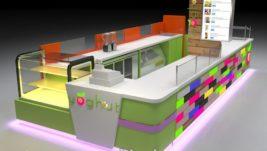 high quality frozen yogurt kiosk for shopping center