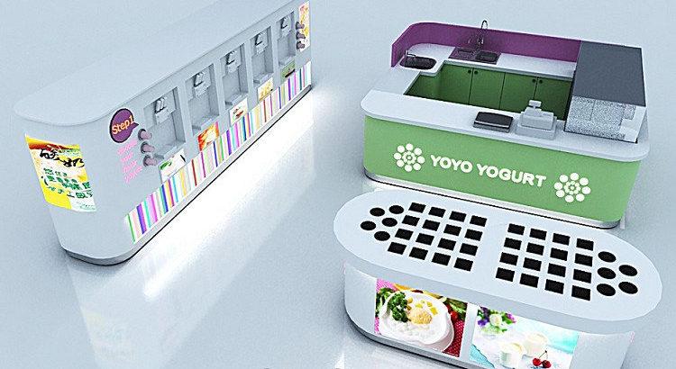 Best selling frozen yogurt shop design with good price